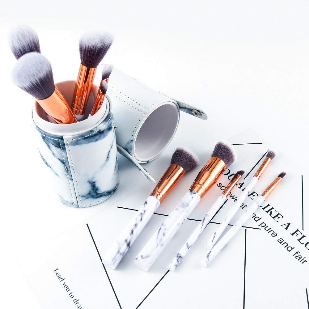 Marble makeup brushes  (9)