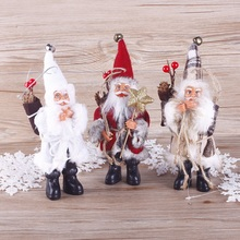 22 CM Christmas Santa Claus Doll Toy Christmas Tree Christmas Pendant Drop Ornaments Decoration Xmas Gift #253347(China)