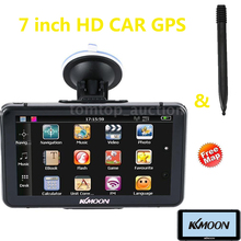 "7"" HD Touch Screen Portable GPS Navigator 128MB RAM 4GB ROM FM MP3 Video Play Car Entertainment System with Handwriting Pen"