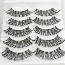 Thick False Eyelashes Messy Cross Thick Natural Fake Eye Lashes Professional Makeup Tips Bigeye Makeup Tool Long False EyeLashes(China)