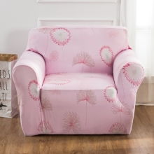 Pink Dandelion Elastic Couch Sofa Covers Couch Loveseat Universal Stretch Furniture Covers For Living Room Polyester Slipcovers