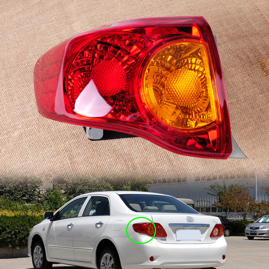 CITALL TO2800175 166-50863L Rear Left Tail Light Taillight Hoods Assembly Driver Side Brake Light for Toyota Corolla 2009 2010<br>