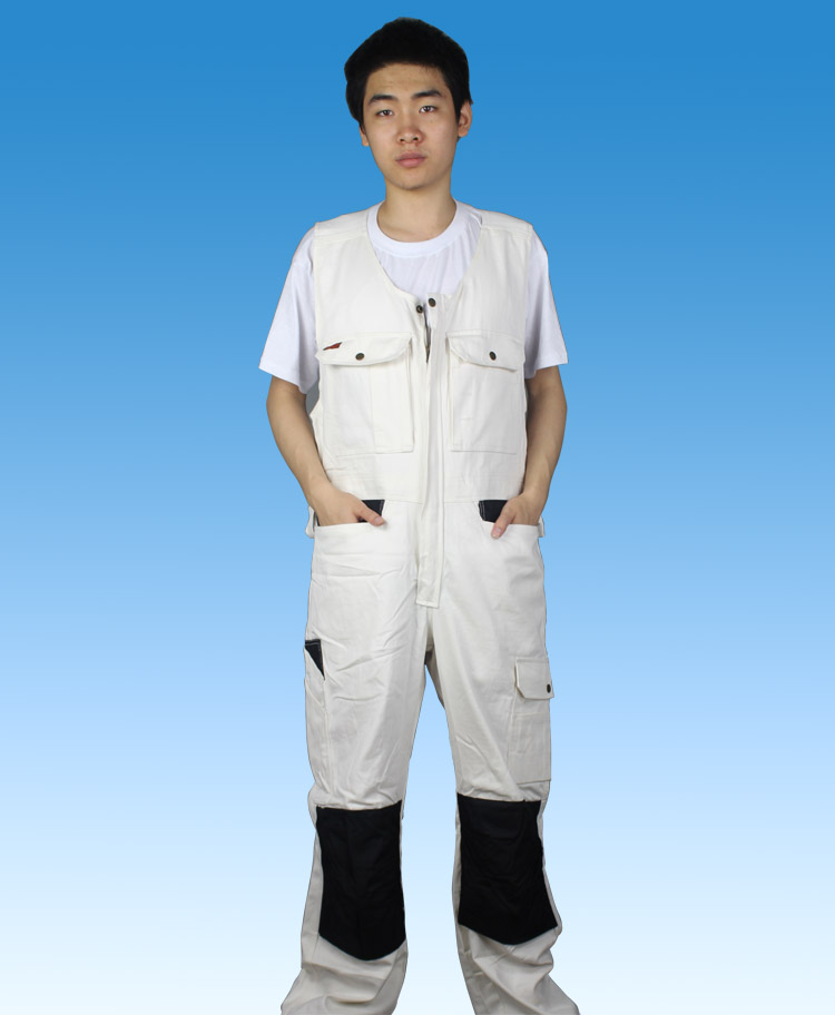 Work overalls mens protective coverall Repairman Jumpsuits Trousers work uniforms wear clothes Plus Size Sleeveless Cargo Pants<br>