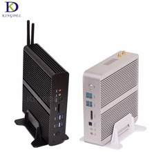 Big Promotion  Fanless HTPC Mini pc i7 5500U 5600U Intel Nuc Mini Desktop PC  Broadwell Graphics HD 5500 300M Wifi TV box 2*HDMI