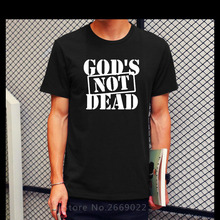 New Summer Fashion God's Not Dead Jesus T Shirt Men Casual Cotton Printed Short Sleeve Men's Clothing Tshirt Camisetas