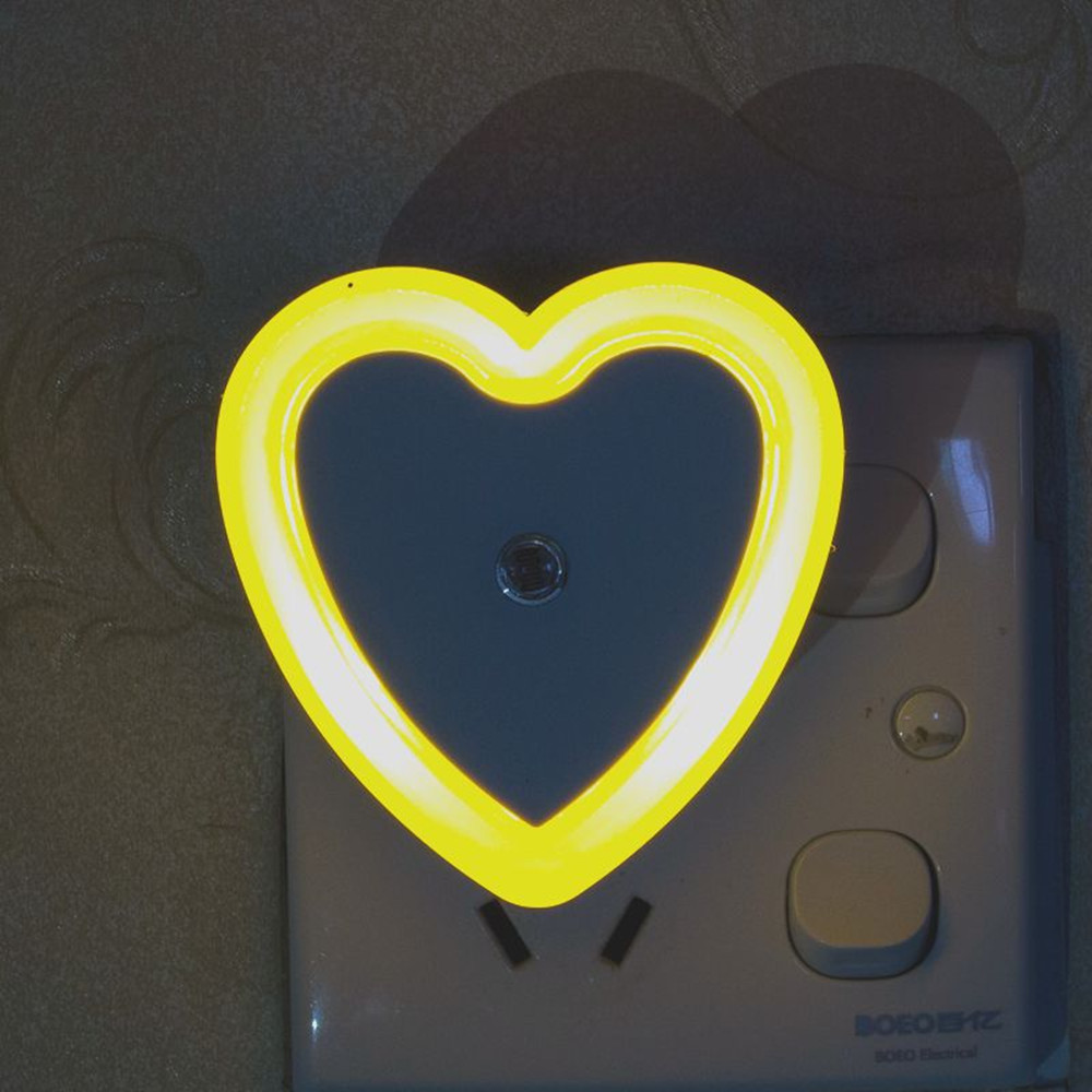 SuperNight Heart AC LED Night Light Intelligent Light Control Sensor Corridor Stairs Bedroom Bedside Toilet Home Decor Wall Lamp (4)