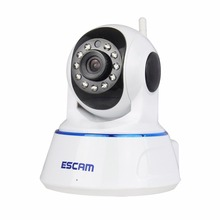 ESCAM QF002 HD 720P Color white wirless Wifi CCTV IP Camera Built in Mic Support IOS Smart Phone Day and Night Version