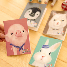 Cute Kawaii Notebook Cartoon Animal Journal Diary Planner Binding Mini Notebook Exercise Book Daily Notepad For Kids Gift(China)
