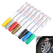8 colors White Waterproof Rubber Permanent Paint Marker Pen Car Tyre Tread Environmental Tire Painting free shipping
