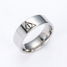 1PC Retail Triangle Titanium Ring Women's/Men's Ring Dropshiping(China)