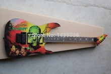 Free Shipping Kirk Hammett Metallic E S P KH2 M-II Mummy Karloff Tlmummy Electric Guitar 1112(China)