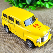 BOHS Genuine Metal Alloy  School Bus  Diecast  Toys for Kids 10*4*4cm