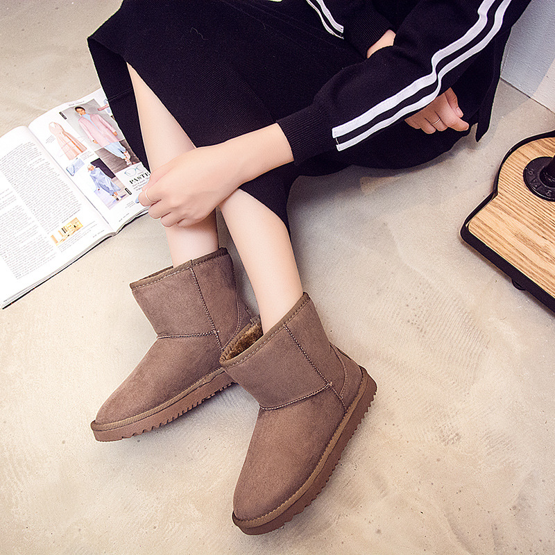 2016 New Winter Snow Boots Warm Shoes Classic 10 color Female womens Students In A Short Tube Thick Boots  Ankle Boots<br><br>Aliexpress