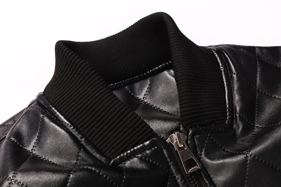 mens leather winter bomber jacket fur 07
