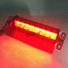 red red Color 8 LED Strobe Flash Warning Police Car Light Flashing Firemen Fog 8LED High Power free shipping dropshipping