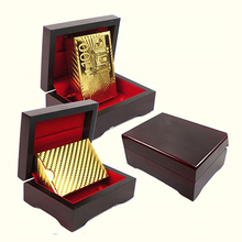 Luxury Gold Foil Poker Playing Cards Dollar EUR Plaid Pattern Party Play Game