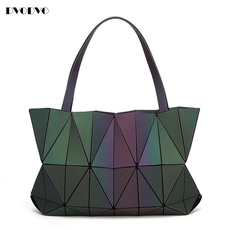 2017 Hot Sale new Bao Bao Women Luminous sac baobao Bag Diamond Tote Geometry Quilted Shoulder Bags Saser Plain Folding Handbags<br>