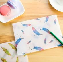 8 pcs/pack Watercolor Flying Feather Translucent Envelope Message Card Letter Stationary Storage Paper Gift(China)