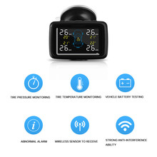 CAREUD U901 Car Wireless TPMS Tire Pressure Monitoring System with 4 External Sensors LCD Display
