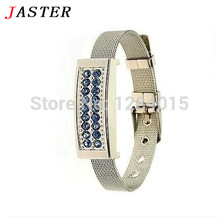 JASTER Beauty Jewelry bracelet chain crystal USB Flash Drive  fashion  pendrive 8GB 16GB memory stick U disk USB creativo