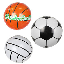 Buy 3pcs 18inch Round Sport Ball Shape Foil Balloon Basketball Volleyball Football Match Decor Kids Boys Birthday Party Gifts Toys for $1.12 in AliExpress store