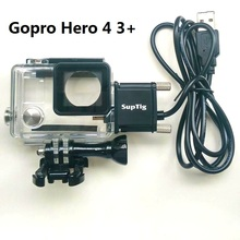 2017 Action Camera Accessories Chargering Waterproof Case For Motocycle Charger shell Housing With USB Cable for Gopro Hero 4 3+(China)