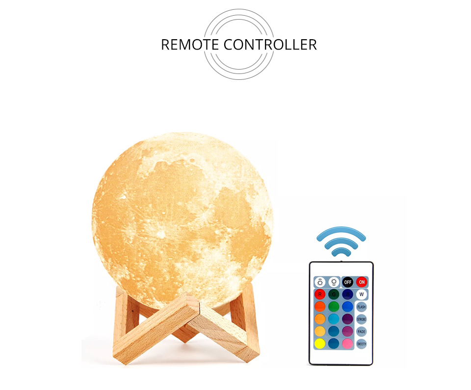 Foxanon 3D Print Moon Light Earth Lamps Rechargeable Color Change Touch Sensor Switch Remote Used as Home Table Lamp Decoration (11)