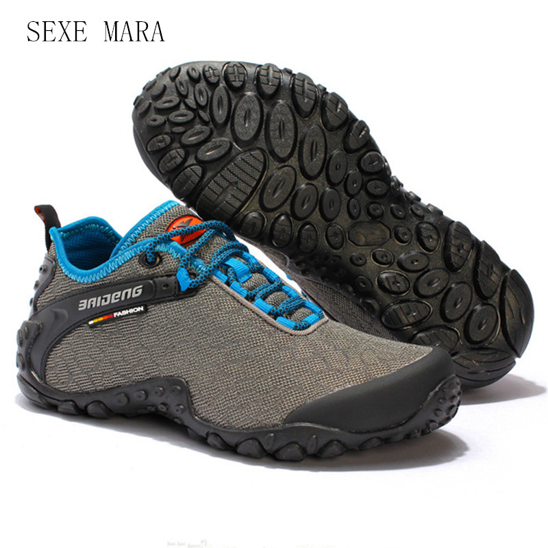 2017 Outdoor Sport shoes men Arena Sneakers men Shoes Running Shoes for men Summer Anti-skid Off-road Trainers Walking Athletic<br>