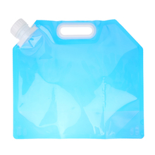 Blue 5L Water Bag For Portable Folding Water Storage Lifting Bags For  Camping Hiking Survival hydration bladder BHU2