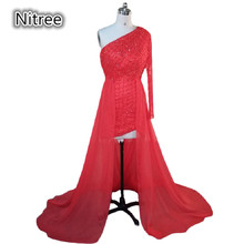 New Sexy Long Red Butterfly Evening Dress For Party Over Abend Kleider One Shoulder Zuhair Murad New Evening Dresses 2015 Women