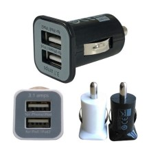 New 3.1A 12V Universal Mini Dual 2 Port USB Auto Car Charger Socket Adapter