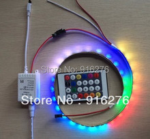 New 24key IR RGB LED pixel controller 80 more changes for 5V/12V led strip module WS2811, WS2812B, SK2812 ,INK1003 Free Shipping