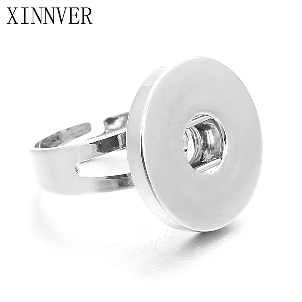 Hot sale DIY Adjustable Snap Button Rings Snap Buttons Fit 18mm Metal Snap Buttons Women's Fashion Jewelry Men's Ring
