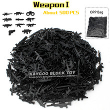 Kaygoo Weapon Set Building Blocks DIY Military Swat Police Gun Weapons Pack Army Brick Arms City Police Batman Children Gift Toy