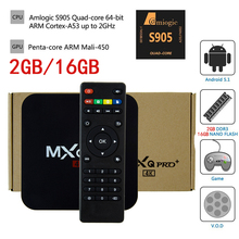 MXQpro+ Android TV Box Amlogic S905 Quad Core Android 5.1 2GD DDR3 16G NAND FLASH HDMI 2.0 WIFI 4K 1080P Google Play Set Top Box(China)