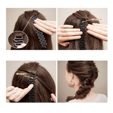 M MISM Fashion Magic Easy Braid Women Wave Hair Disk Device Tress Korean Style Easy Use for Hair Style DIY Headwear Head bands