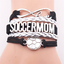 GVUSMIL New Style Infinity Love SOCCERMOM Charm Customized Wristband friendship Bracelets Jewelry Gift For Women(China)
