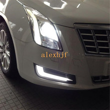 July King LED Daytime Running Lights LED Front Bumper DRL Case for Cadillac XTS 28T 2013 Comfort Edition 1:1 free shipping