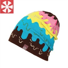 Men Women Colorful New Creative Brand SNSUSK Striped Hip Hop Beanie Hats Ice Cream Style Casual Bonnet Caps Acrylic 4 Colors