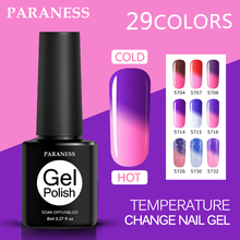 Paraness Lucky 8ml Temperature Change Nail Gel Polish UV Soak Off Gel Varnish Semi Permanent DIY Nail Art Salon Gel Lacquer