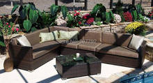 2017 New Product Luxury Yiwu Outdoor Furniture Poly Rattan Sofa Set(China)