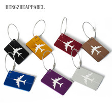 new metal Aluminum Suitcase luggage tag travel by air bag accessories marker tags keep package safe Boarding label name card tag