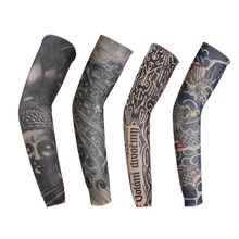 man women tattoo arm warmers fashion venda quente de moda de nova finas Punk UV Tamporary tema tatuagem falsa mangas aquecedores