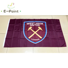 England EPL West Ham United FC 3ft*5ft (90*150cm) Size Christmas Decorations for Home Flag Banner Gifts