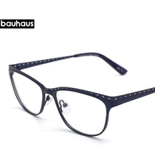 bauhaus 2017 France New Design Unique Hollow Out Eyeglasses Frame Brand Designer Women Personality Optical Eyeglasses Oculos(China)