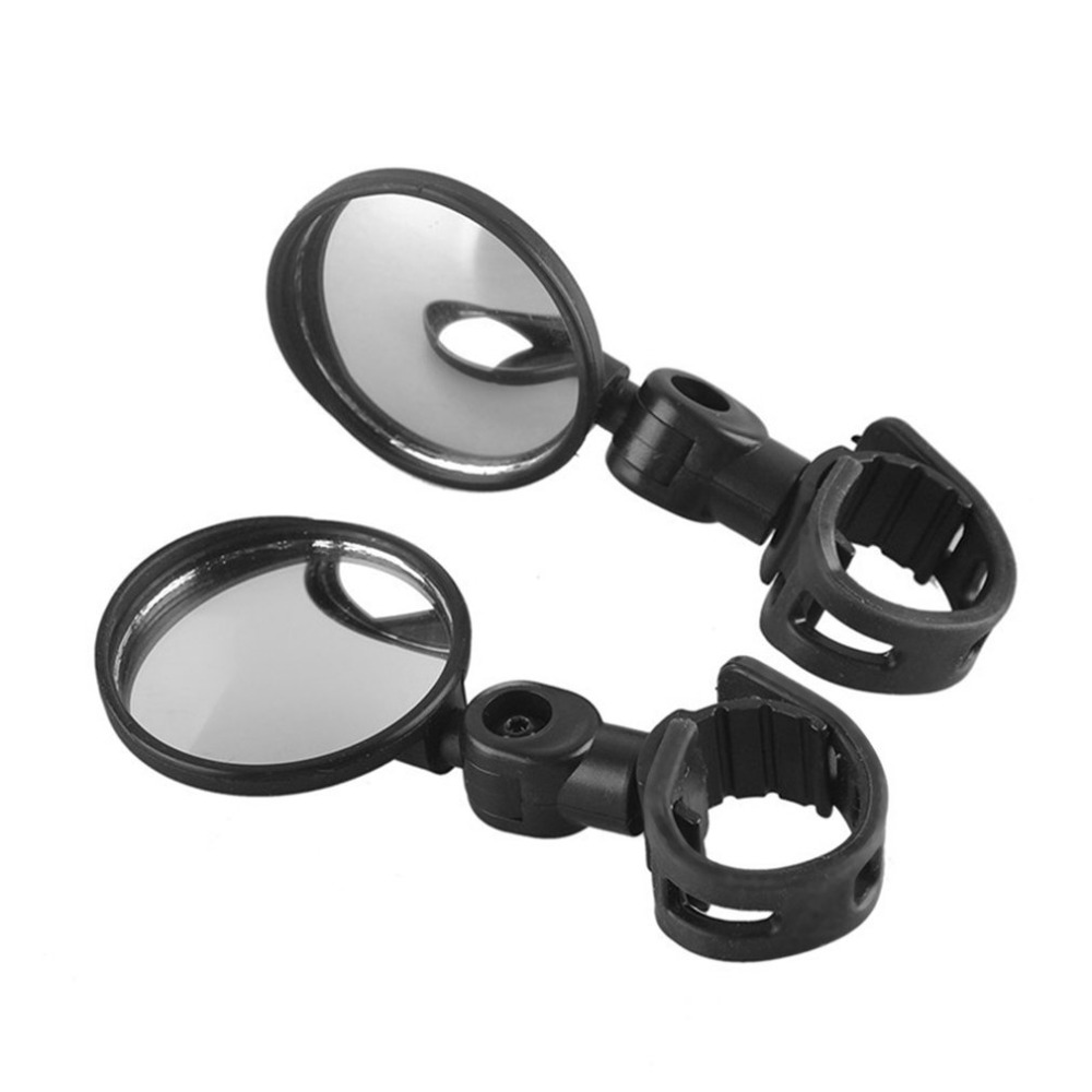 Bike Bicycle Handlebar Rearview Mirror 360 Degree Rotation Flexible Wide Angle Convex Mirror Safe Cycling Side View Mirror
