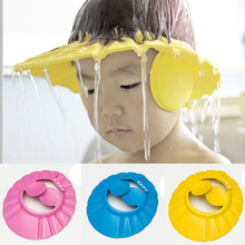 New Adjustable Baby Kids Shampoo Bath Bathing Shower Cap Hat With Ear Wash Hair Shield High Quality