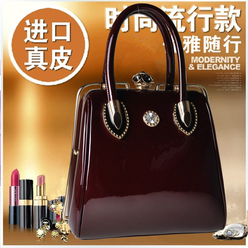 2015 Dinner Shaping Japanned Leather Handbag Fashion Vintage Womens Handbags High Quality Patent Leather Tote Bags<br><br>Aliexpress