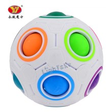 Yongjun YJ Rainbow Ball Football Speed Magic Cube Puzzle Cubes Kids Educational Toys