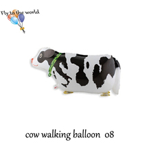 Hot ! Cow walking balloon Inflatable pet balloon with Helium Baby's toys Free shipping 10pcs/lot(enough stock)